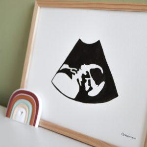 baby echo illustratie