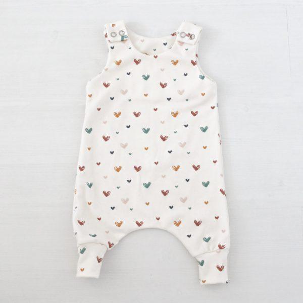 Hartjes romper geboortepakje babymeisje
