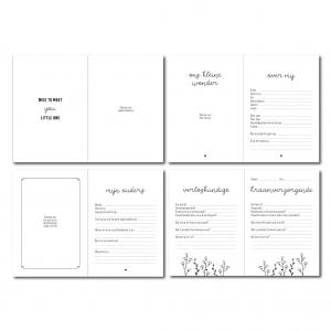 Kraambezoekboek invulboek voor tijdens de kraamtijd