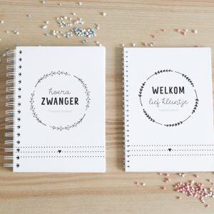 Zwangerschapsboek en kraambezoekboek FSHappiness
