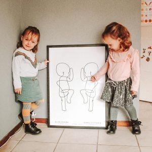 Geboorteposter tweeling